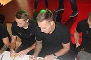 Kabelkovy veletrh 2018 - autogramiáda fotbalistů Slezského FC Opava.