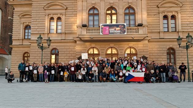 Demonstrace za nezávislou justici v Opavě.