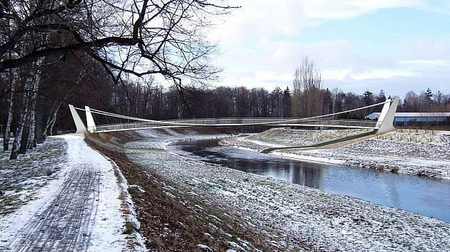 Přes řeku Opavu by měla vést nová lávka.