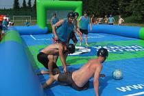 V sobotu 27. července se uskutečnil v areálu víceúčelového hřiště v Hlubočci první ročník turnaje ve vodním fotbálku.