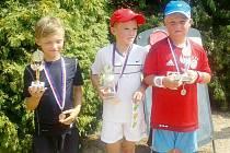 Úspěšní tenisté: Onderka, Matušowski, Beneš.