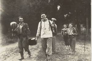 VÝLETY Sokola Jaktař, rok 1951.