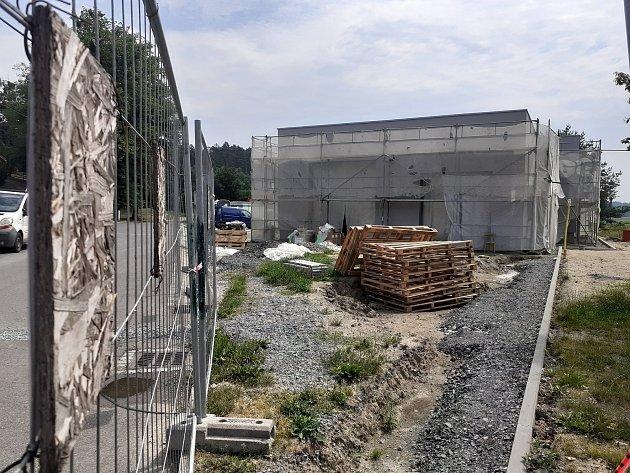 Stavba nové hasičské zbrojnice.