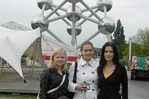 Děvčata z Opavy na návštěvě v Bruselu.
