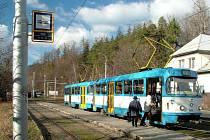 Konečná tramvajové dráhy v Kyjovicích-Budišovicích. Při zahájení provozu na trati v roce 1927 se zde shromáždilo dva tisíce občanů.