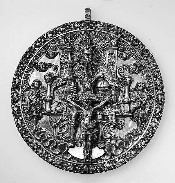 Opavská Svatotrojiční medaile Hanse Reinharta staršího z roku 1569.