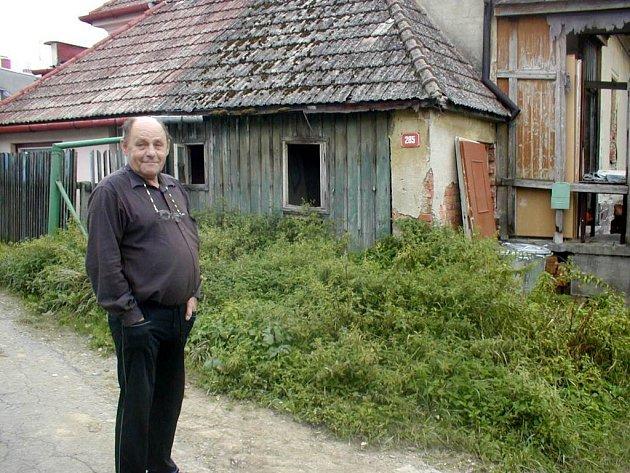 František Hackenberg na návštěvě u sousedů.