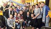 Štěpánkovické oslavy po zisku Slezského poháru. Ve finále tým trenéra Jindřicha Harazima porazil Velké Heraltice.