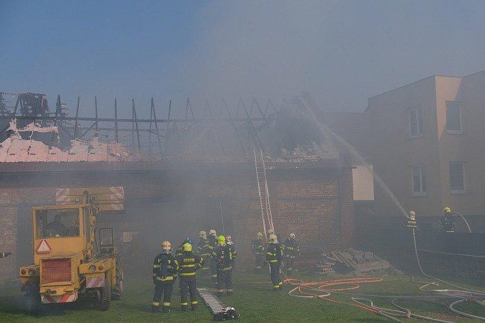 Požár stodoly v Bolaticích.