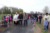 Slavnostní otevírání cyklostezky mezi Oldřišovem a Opavou.