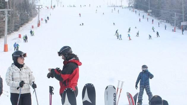 Ski areál Vaňkův kopec. Ilustrační foto.