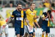 Zápas 26. kola Fortuna národní ligy SFC Opava - FK Dynamo České Budějovice 5. května 2018 v Opavě. Petr Zapalač - o.
