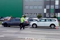 K dopravní nehodě tří automobilů došlo ve středu 21. října okolo 13.30 hodin v Opavě v Těšínské ulici.