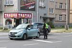 Dopravní nehoda na Olomoucké ulici v Opavě, čtvrtek 24. června dopoledne.