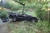 Vážná dopravní nehoda u Holasovic. 27. června 2021.