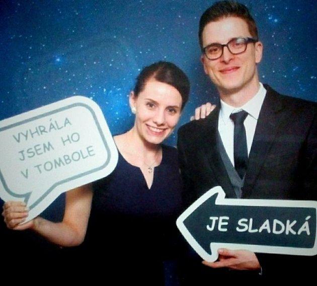 Kristýna Lindovská a Miloslav Vácha zOpavy na plese společnosti Witzenmann vOpavě.