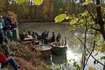 Výlov rybníka ve Slavkově, sobota 19. října 2019.