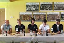 Středeční tisková konference před zahájením podzimní části Fotbalové Národní ligy.