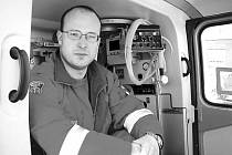 Letecký záchranář David Holeš.