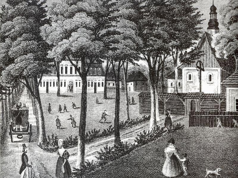 Opavsky A Hlucinsky Denik Budova Kolem Roku 1860 Podle Kresby