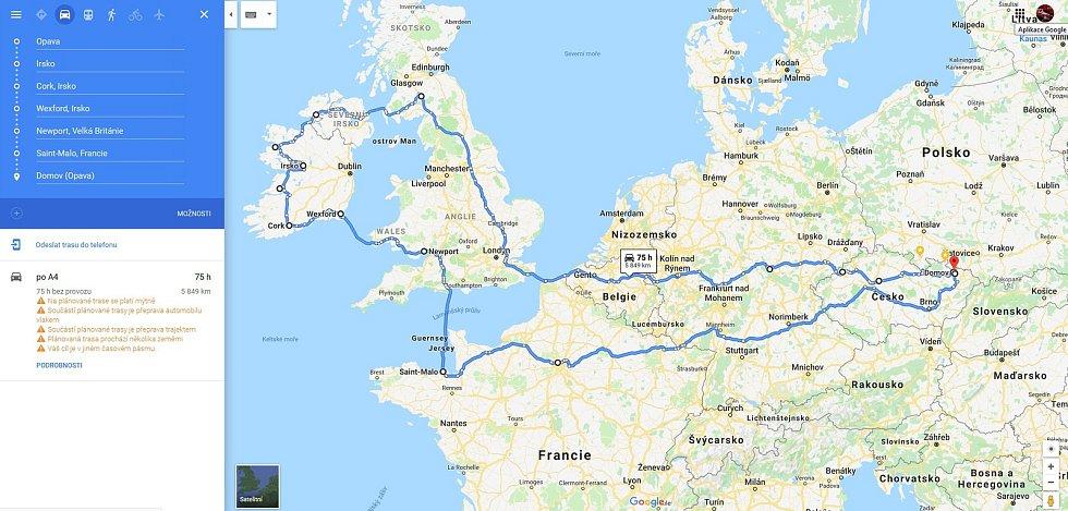 Cesta po Anglii a Irsku.