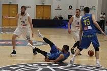 Sport basketbal NBL play-off čtvrtfinále V. zápas Děčín - Opava