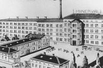 Pohled na továrnu z roku 1923.