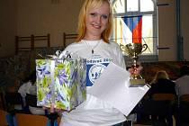 Žaneta Škývarová má k úsměvu už dobrý důvod.