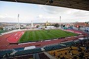 Praha - Zápas 12. kola fotbalové FORTUNA:LIGY mezi FK Dukla Praha a SFC Opava 21. října 2018. Juliska, stadion Dukla Praha.