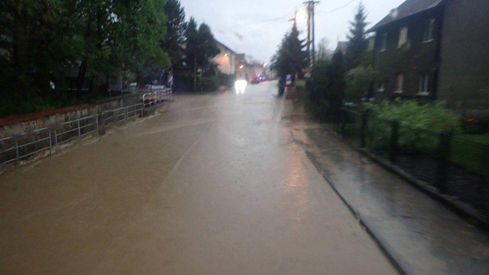 Bleskové povodně na Opavsku.