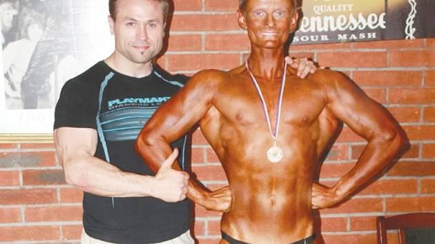 Michal Mrůzek se svým trenérem Petrem Slavíkem.