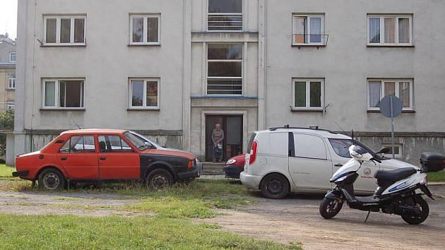 Problematický vnitroblok u Olomoucké ulice.