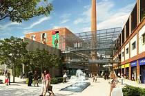 Takto by měl vypadat v roce 2011 areál bývalého pivovaru Zlatovar pod obchodním domem Breda.