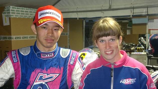 Tereza Grómanová se svým týmovým kolegou Daikim Sasakim.