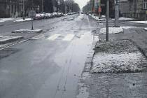 Takto vypadal přechod u Lidlu na Olomoucké ulici v Opavě začátkem března.