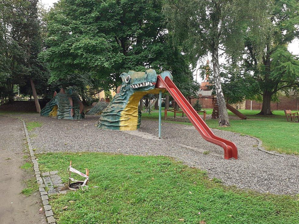 Park u Dohnálkovy vily.