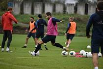 Fotbalisté Slezsého FC Opava jsou v plném tréninku.