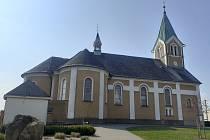 Kostel sv. Kateřiny je ozdobou Štěpánkovic.