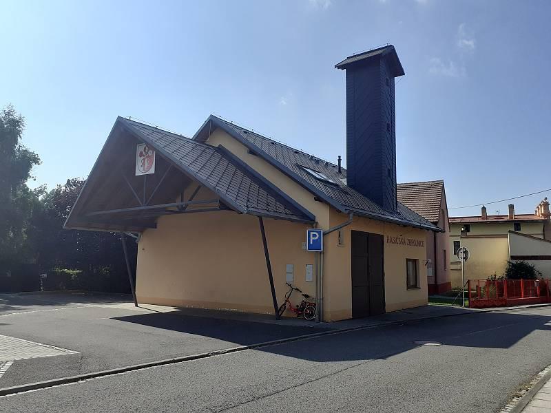 Hasičská zbrojnice v Malých Hošticích.