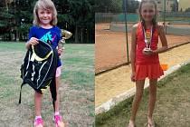 Karolína Heiderová (vlevo) byla stříbrná v Olomouci. Natálie Bártová se dostala do finále na turnaji v Opavě.