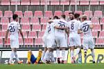 Brno - Zápas 6. kola fotbalové FORTUNA:LIGY mezi SFC Opava a MFK Karviná 25. srpna 2018 na Městském stadionu v Brně. Karviná gól.