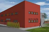 Vizualizace nové budovy šaten.