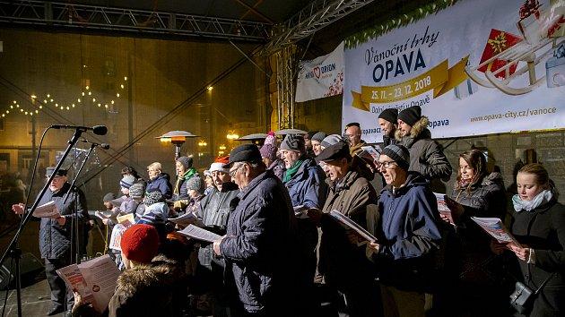 Zpívání koled na Opavsku