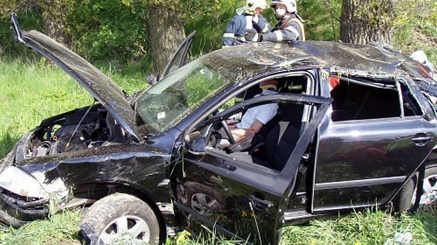 Dopravní nehoda u Hořejších Kunčic