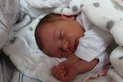 """Sofie Krušberská se narodila 14. května, vážila 3,17 kilogramu a měřila 50 centimetrů. """"Je to naše první miminko. Přejeme mu do života štěstí, zdraví a lásku,"""" řekli rodiče Denisa a Michal z Opavy."""