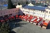 Na hasicskou zbrojnici v Těšínské ulici může být Opava pyšná. Hasiči mají k dispozici nejmodernější techniku.