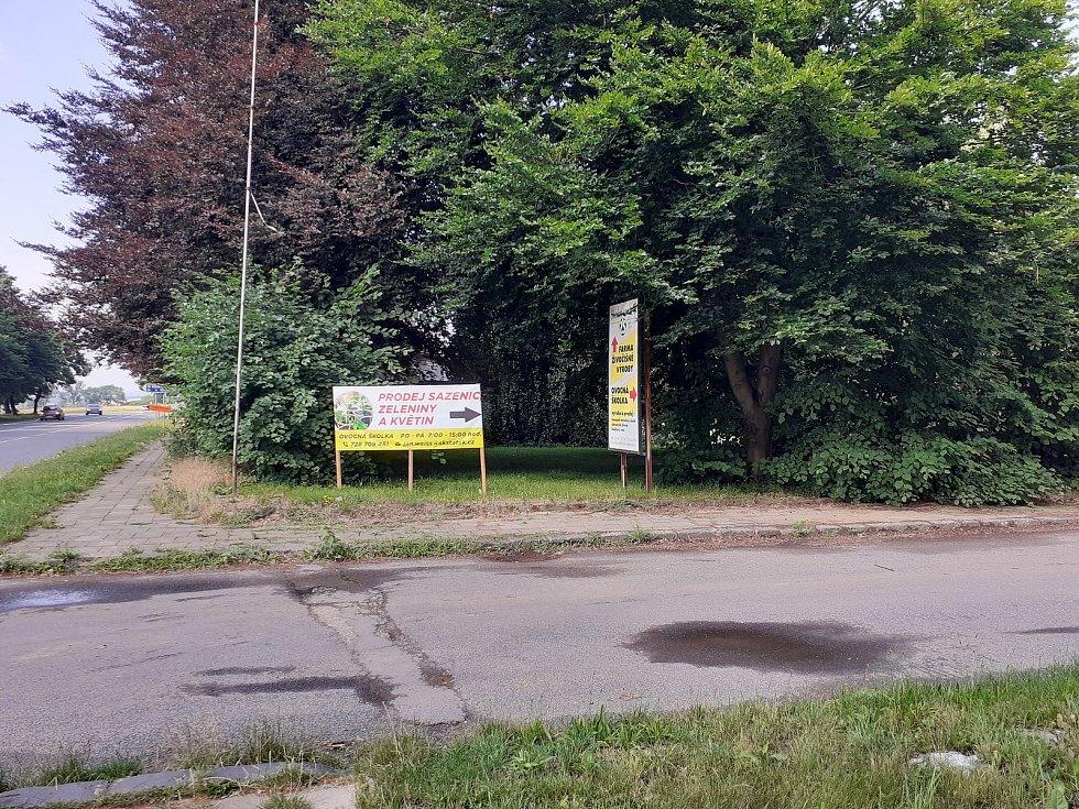 Příjezd k Ovocné školce v Opavě. 15. července, 2021, Opava.