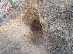 Hasiči zachraňovali jezevčíky z liščí nory, kde uvízli při lovu.