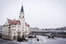 Na Nový rok se i Opava dočkala sněhové nadílky.
