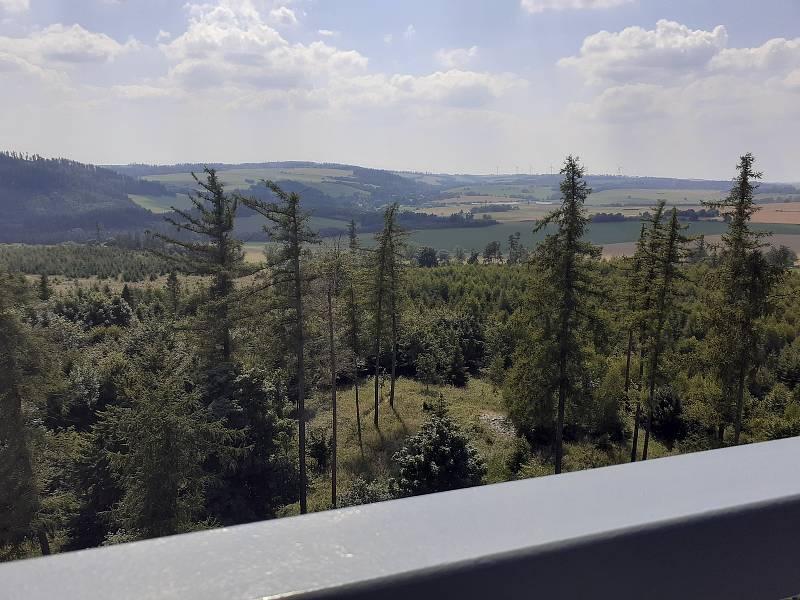 Rozhledna Halaška u Budišova nad Budišovkou. 24. července 2021, Budišov nad Budišovkou.